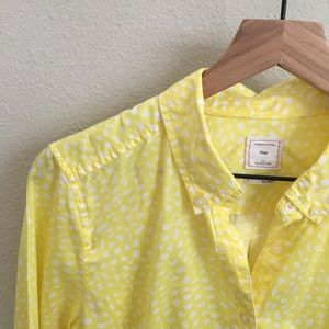 Gap Yellow Button-Up